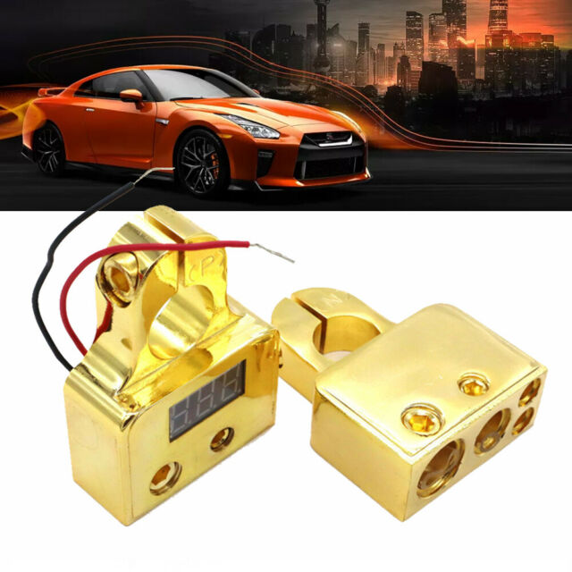 1 Pair Brass Positive Nagative Car Battery Terminal Clamp Clips Connector GN