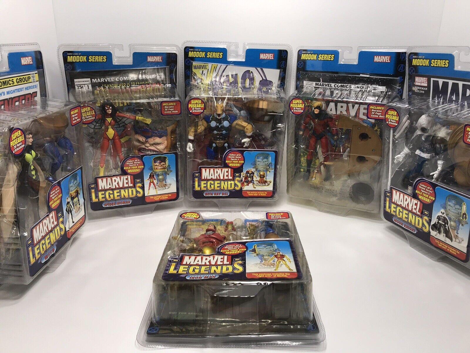 Marvel Legends Modok Series Set Of 6 Action Figures 2006