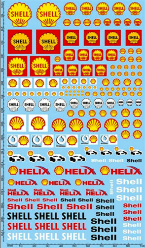 Shell Sponsoren Decal 04 1:24 Decal Abziehbilder 195 x 100 mm
