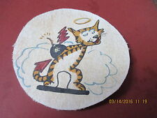 WWII US NAVY VF-52 HELLS ANGEL CAT  FLIGHT JACKET   PATCH