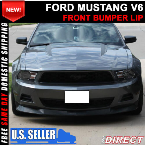 For 10-12 Ford Mustang V6 S Style Front Bumper Chin Lip Spoiler PU Polyurethane