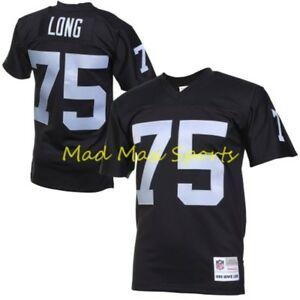 best sneakers fa0b5 b4d0f Details about HOWIE LONG Oakland LA RAIDERS Black MITCHELL AND NESS  Throwback PREMIER Jersey