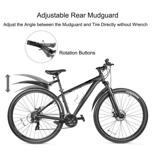 Bicycle Fender Set Adjustable Front Rear Mud Guard Mountain Bike Tire Mudguards