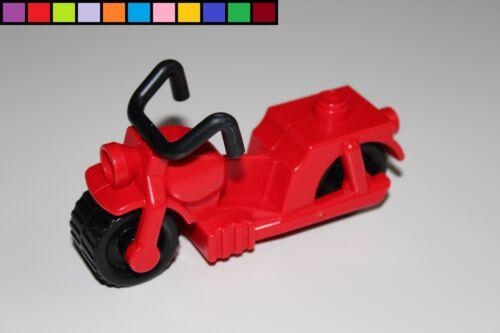 LEGO Duplo-Motocicletta Veicolo-ROSSO-POSTINO-Vigili del Fuoco