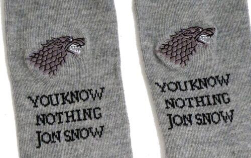 JON SNOW SOCKS UK 4-8 EUR 37-42 USA 6-10 LADIES GAME OF THRONES STARK YOU KNOW.