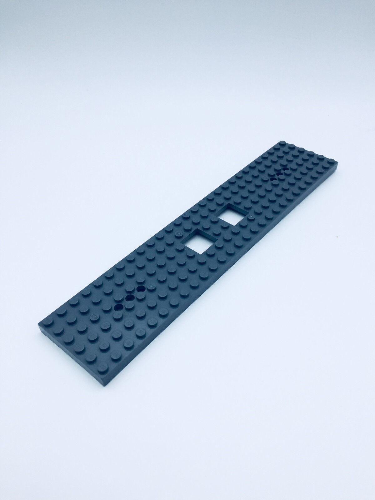 Lego Eisenbahn TRAIN Waggon Grundplatte Platte 6x24 DUNKELGRAU PLATE