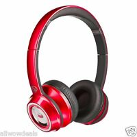 Monster Ntune Ncredible On Ear Headphones Candy Red Bluberry