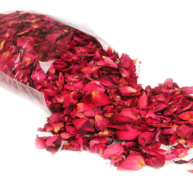 50g Dried Rose Petals Natural Dry Flower Petal Spa Whitening Shower Bath WL