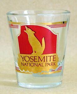 Yosemite National Park Gold Trimmed Shot Glass