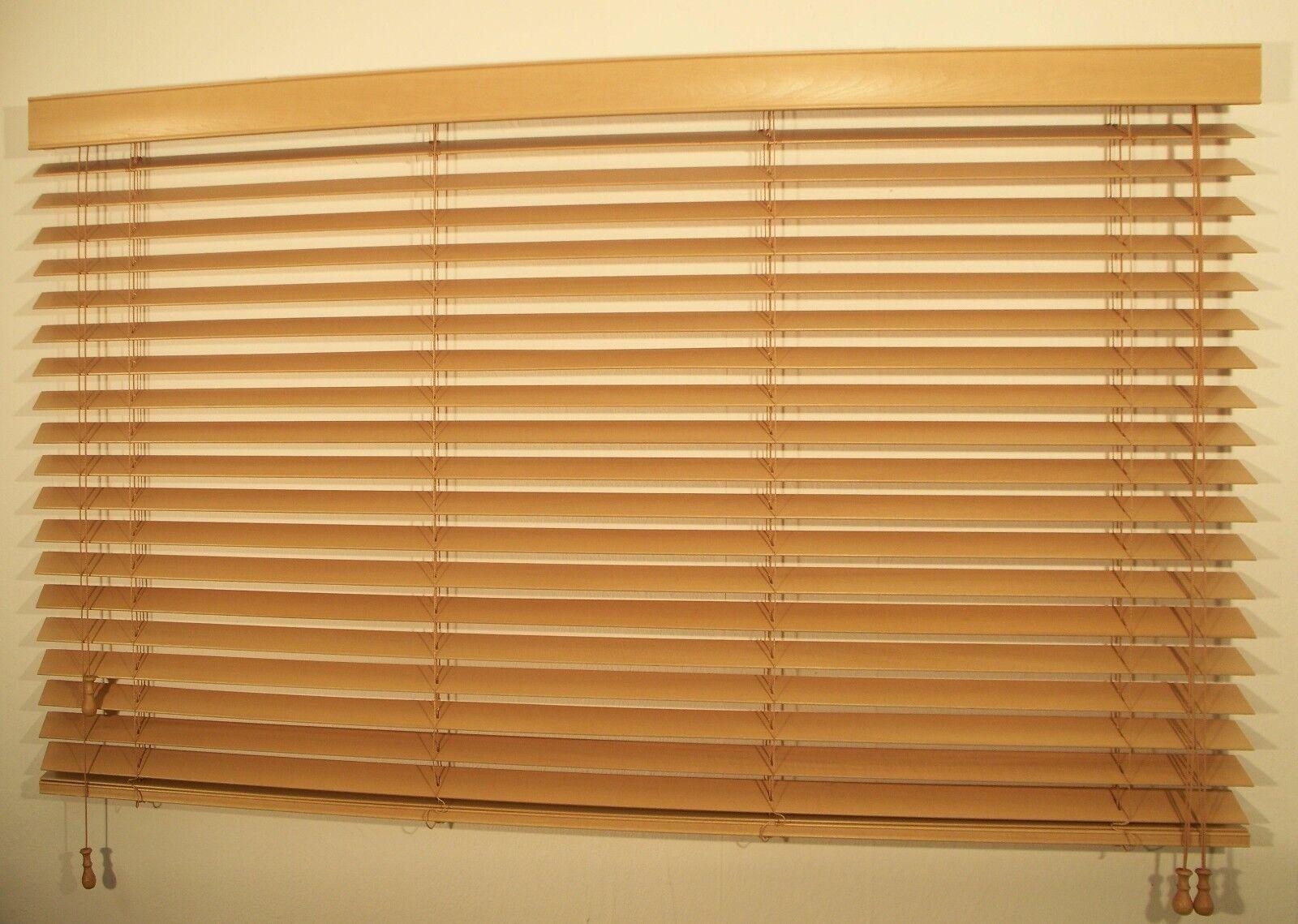 Holz-Jalousie nach Maß neu neu neu Jalousette; Seilführung, Muster Holz | Vorzugspreis  f33acd
