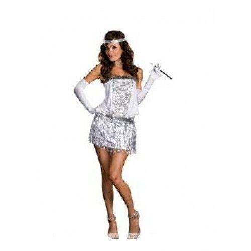 Charleston Flapper Gatsby Girl 1920/'s Costume Fancy Dress Hen Party
