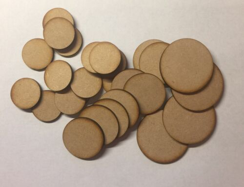 laser cut 3mm MDF circles blank craft base shapes signs 10cm Wooden 100mm