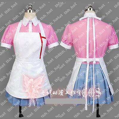 Dangan Ronpa 2 Danganronpa Mikan Tsumiki Pink Maid Fancy Dress Cosplay Costume