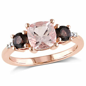 SVC-JEWELS 14K White Gold Over 925 Sterling Silver Round Cut Brown Smoky Quartz Criss Cross X Wedding Band Ring Men