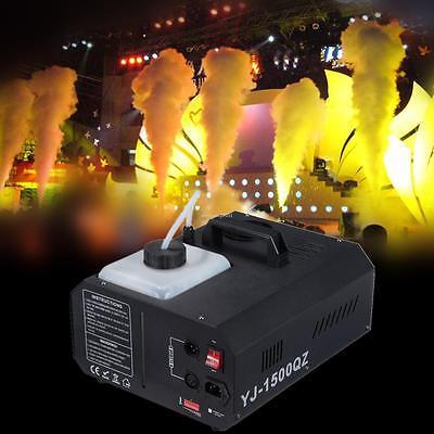 Smoke Fog Machine 1500W Wireless Remote DJ Party Band  DMX Vertical Fogger