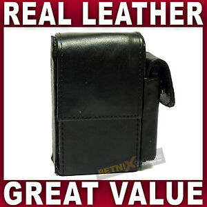 Black-REAL-LEATHER-CIGARETTE-CASE-with-lighter-pouch-holder-GENTS-LADIES-WOMENS