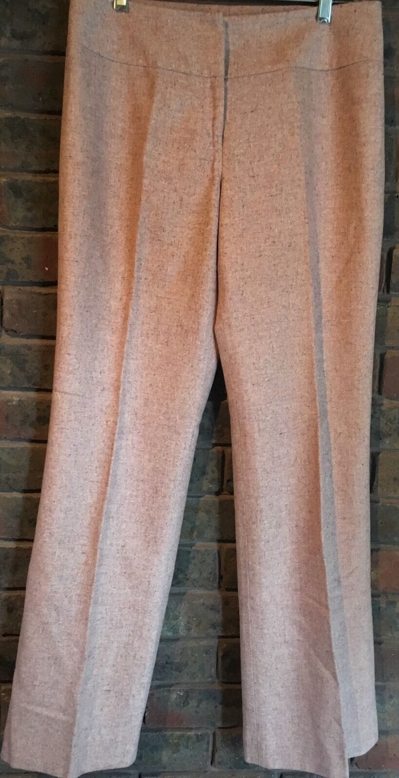ANN TAYLOR Women's Long Trailered Tweed Pants Trousers US8 UK12