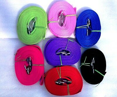 Lunge Reins 8 meter  colored Black,Purple.Blue ,green orange brown red and Pink