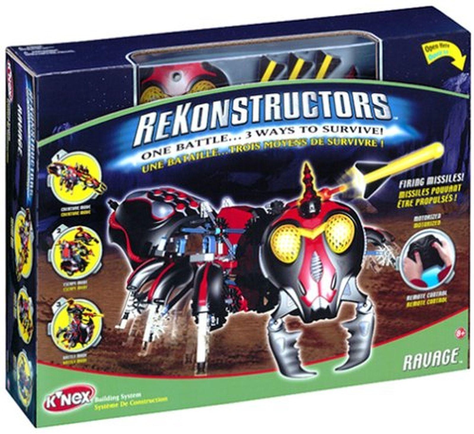 K'Nex ReKonstructors   ZeKorian Creatures  Ravage Action Figures  New in Box