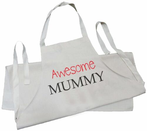 NATURAL COTTON CREAM Awesome Mummy DRILL APRON Mother