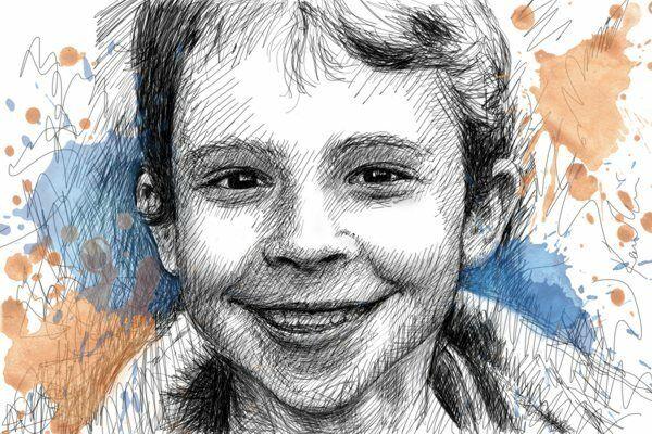 Portrait nach einem Foto in Digitalform - Geschenkidee Geburtstag Kind Zeichnung | ein guter Ruf in der Welt  | Niedriger Preis und gute Qualität