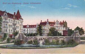 uralte-AK-Magdeburg-Kaiser-Wilhelmplatz-1913