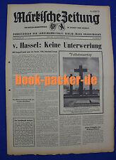 MÄRKISCHE ZEITUNG 1967 Nr. 22: v. Hassel: Keine Unterwerfung