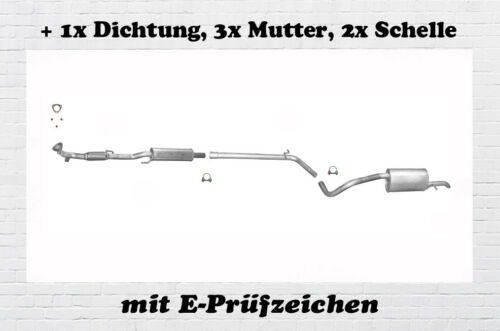 R6 1.2 Schelle Fox 1.2 Auspuff Flexrohr Dichtung Auspuffanlage VW Polo 9N