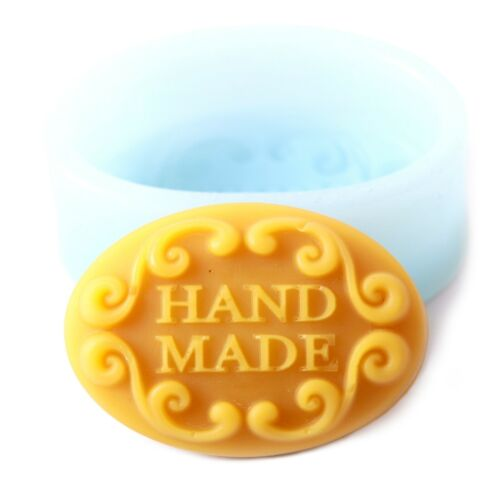 Hand Made In Oval Silicone Soap Mould Pack of 5 R02565