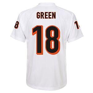 Cincinnati Bengals NFL A.J Green #18 White Boys 4-7 Player T ...