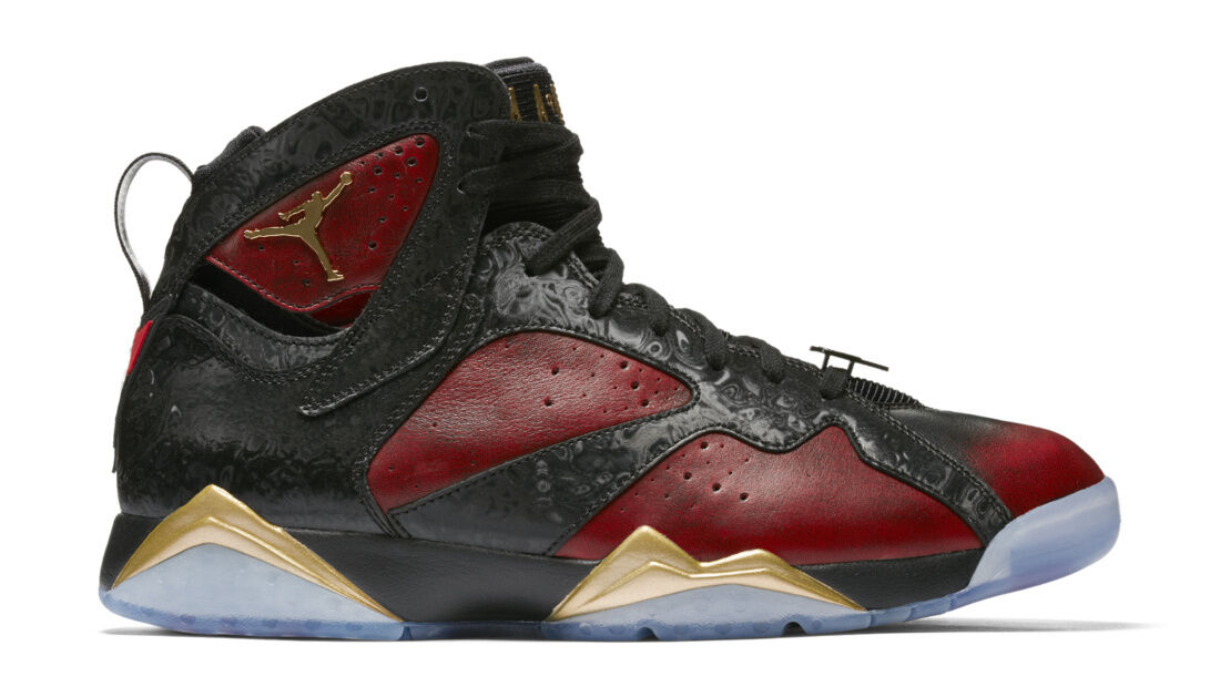 642a5c881ed Nike Jordan VII Retro DB X Damien Phillips Black Red gold 898651-015 ...