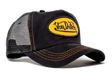 Authentic New Von Dutch Adult Black/Gold Baseball Cap Hat Trucker Mesh Snapback