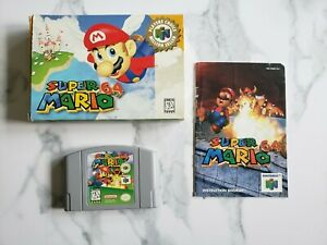 Super Mario 64 Complete CIB N64 - Game, Box, Manual. Authentic. Tested. Good