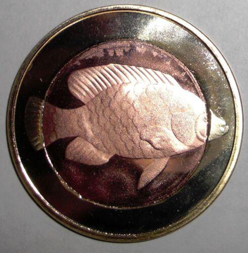 animal wildlife Fish 2013 Corisco 500 ekuele bimetallic coin
