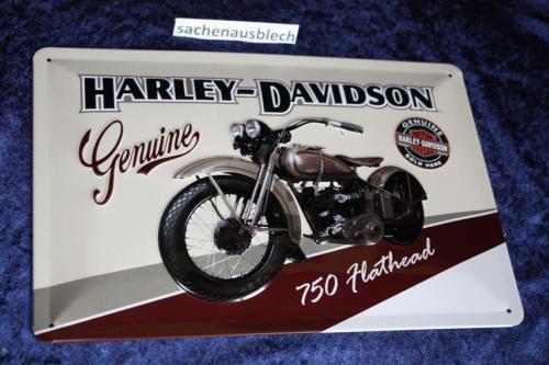 Harley Davidson 20x30 cm chapa escudo 750er disparé escudo sign signs EE UU.