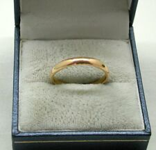 22ct Gold Plain Narrow Wedding Ring By Samuel Hope