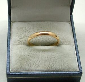 22ct Gold Plain Narrow Wedding Ring By Samuel Hope eBay
