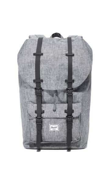 a572ecdbc83 Herschel Supply Co. Little America Backpack Raven Crosshatch black ...