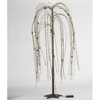 24 Led Cream Stars Weeping Willow Tree Light W/ Star Base - Primitive Decor