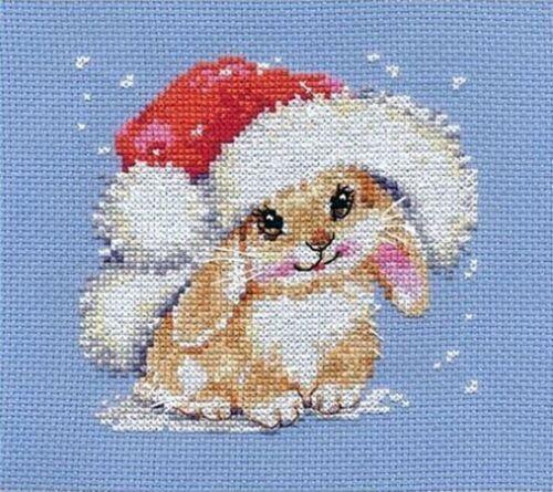 "Counted Cross Stitch Kit ALISA 0-95 /""Winter bunny/"""