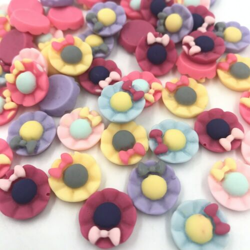 100 Resin Flat Back Button Hat decoration DIY crafts children hairpin Accessory
