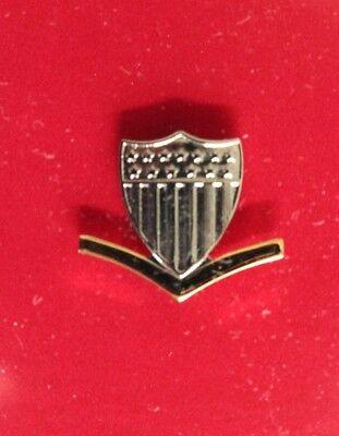 USCG US COAST GUARD BLACK PATENT LEATHER CHIN STRAP FOR CPO E7-9 COMBINATION CAP