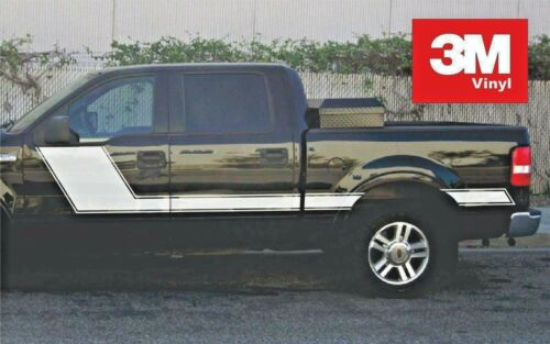 Angled Hockey 3M Vinyl Sticker Graphic Decals Stripe Ford F150 2004-08 Crew Cab