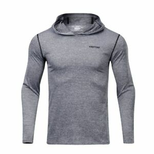 6c29b547 T Shirt Long Sleeve Gym Fitness Hoodie Jogging Slim Dry Fit Crossfit ...