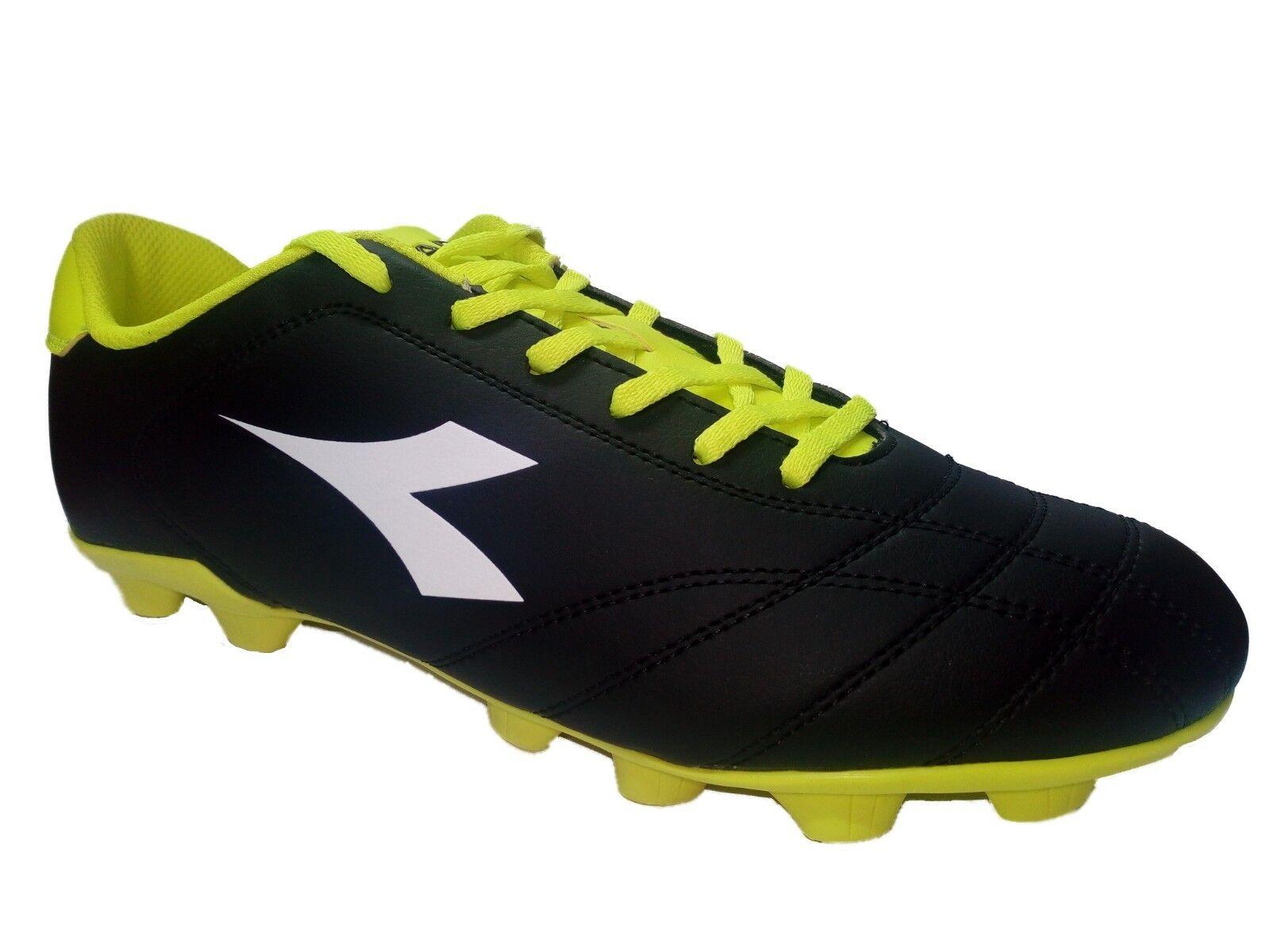 Schuhe UOMO CALCIO DIADORA 6PLAY MD IN PELLE NERO NERO NERO tg 42.5 cm 27 34946a