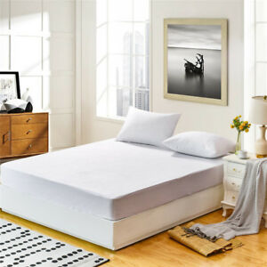 Mattress-Cover-Protector-Waterproof-Terry-Towel-Extra-Deep-Fitted-Sheet-Bed-Pad