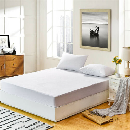 Mattress Cover Protector Waterproof Terry Towel Extra Deep Fitted Sheet Bed Pad