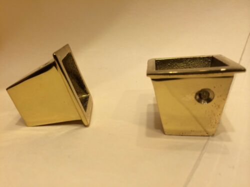 """Heavy Construction Solid Brass Furniture Chair Leg Base Caps 1-1//8/"""" x 1-1//8/"""""""