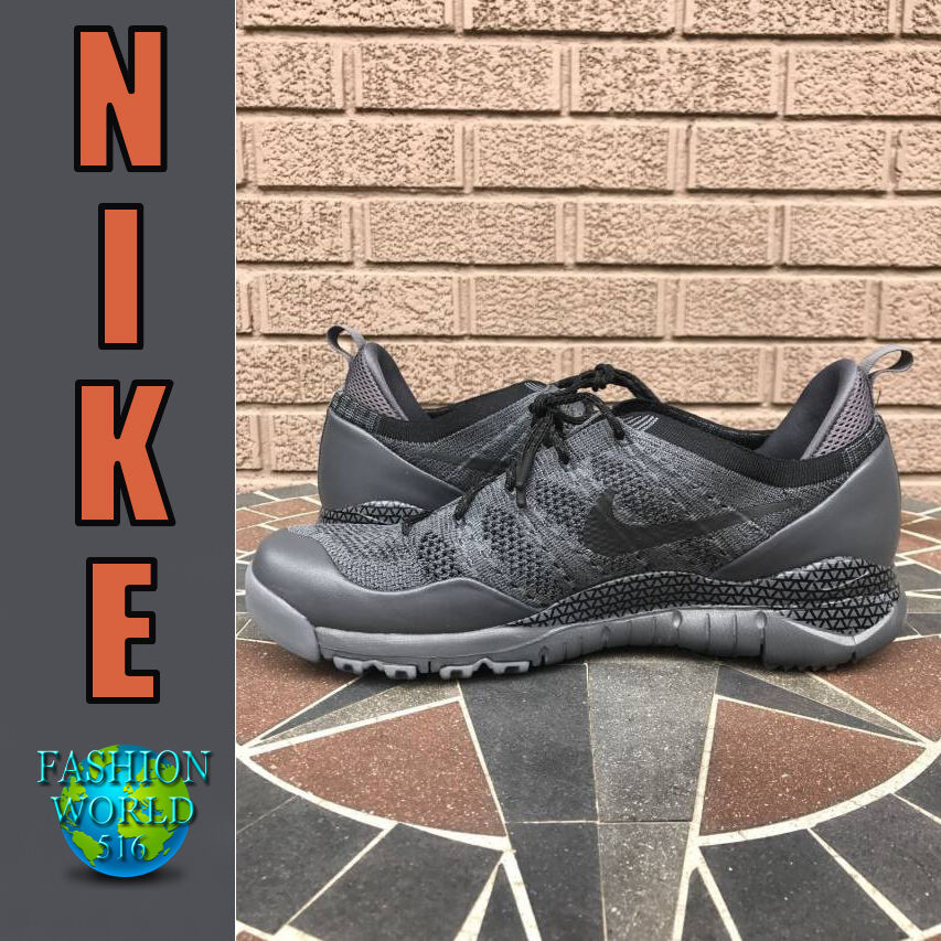 NIKE MEN'S SIZE 10 LUPINEK LUPINEK LUPINEK FLYKNIT LOW SHOES DARK COOL GREY BLACK 882685 001 81749b