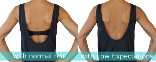 Low Back Bra Converters Low Expectations Backless Bra